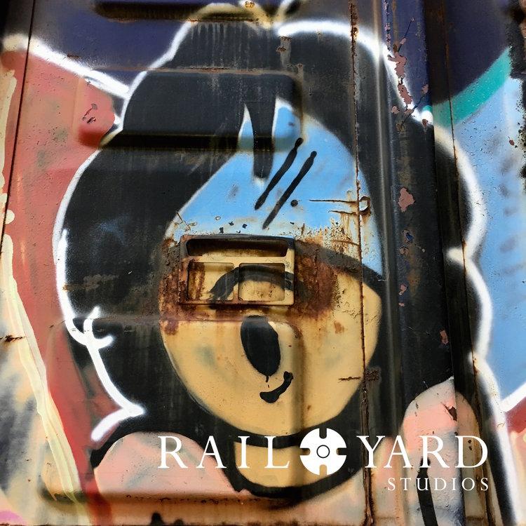 smash graff art original rust boxcar rail yard studios