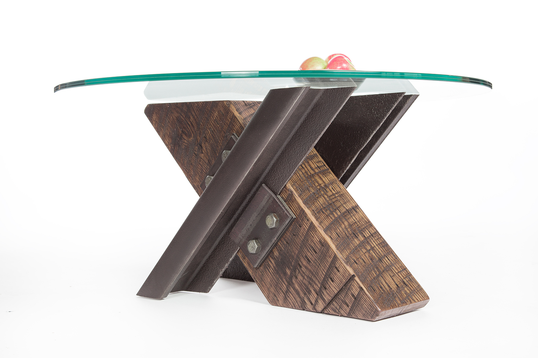 x-shaped-cross-coffee-table-wood-steel-glass-round